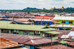 Colorful Water Village-Bandar Seri Begawan, Brunei Royalty Free Stock Image