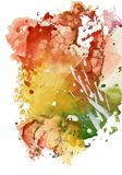 Colorful watercolor abstract background illustration.  Stock Photo