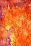 Watercolor abstract background. Colorful watercolor abstract background in orange and red Stock Photo