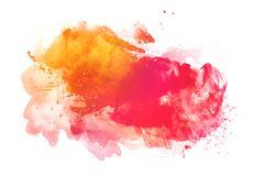 Colorful watercolor background isolated on white royalty free stock images