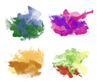 Colorful watercolor backgrounds Royalty Free Stock Images