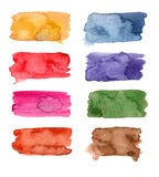 Colorful Watercolor banners Royalty Free Stock Image