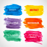 Colorful watercolor banners. Vector illustration Royalty Free Stock Photography
