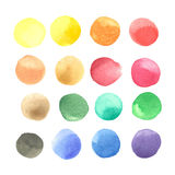 Colorful watercolor blots isolated on white background Stock Image