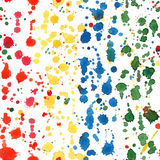 Colorful watercolor blots seamless pattern. Stock Photos
