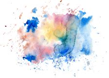 Colorful watercolor bright spot. Isolated. Colorful watercolor bright spot. Isolated on white background Stock Image