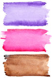 Colorful watercolor brush strokes Stock Image