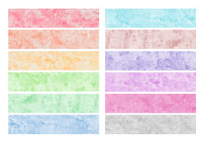 Colorful watercolor brush strokes. For background Royalty Free Illustration