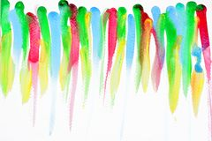Colorful watercolor brush strokes Stock Images
