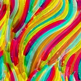 Colorful watercolor brush strokes background. Stock Image