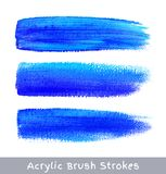 Colorful watercolor brush strokes on canvas Stock Photos