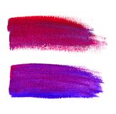 Colorful watercolor brush strokes on canvas Royalty Free Stock Images