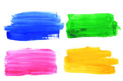 Colorful watercolor brush strokes Royalty Free Stock Image