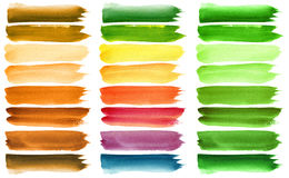 Colorful watercolor brush strokes Royalty Free Stock Photography
