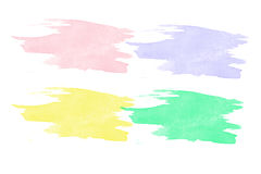 Colorful watercolor brush strokes. Royalty Free Stock Image