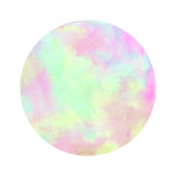 Colorful watercolor circle on white background Royalty Free Stock Image