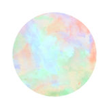Colorful watercolor circle on white background Stock Images