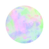 Colorful watercolor circle on white background Stock Image