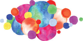 Colorful watercolor circles. Royalty Free Stock Photos