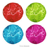 Colorful  watercolor circles. Royalty Free Stock Images