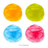 Colorful  watercolor circles. Stock Images