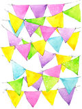 Colorful watercolor flags. Rainbow background royalty free illustration