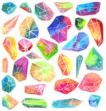 Colorful watercolor gem Royalty Free Stock Photography