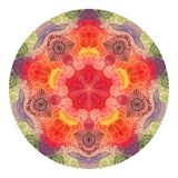 Colorful watercolor mandala. Oriental vintage round pattern. Hand drawn abstract background. Mystic ottoman motif Royalty Free Stock Photos