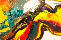 Colorful of watercolor mixed. royalty free stock photo