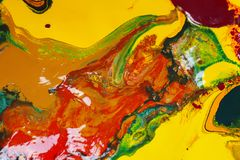 Colorful of watercolor mixed. royalty free stock images