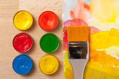Colorful watercolor paint stock image