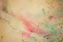 Colorful watercolor paint on vintage canvas. Super high resolution and quality background Royalty Free Stock Photography