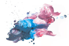 Colorful watercolor paint on white canvas. Super high resolution and quality. Royalty Free Stock Images