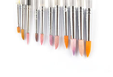 Colorful watercolor paintbrushes Royalty Free Stock Photography