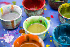 Colorful watercolor for painting Royalty Free Stock Image