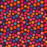 Colorful watercolor polka dots pattern. Seamless hand drawn watercolor polka dots pattern Royalty Free Stock Images