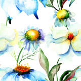 Colorful watercolor seamless pattern Stock Photos