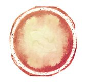 Colorful watercolor sphere. Abstract painting. Red, magenta and white paint. Blank multicolored Abstract Smudged Texture Backgroun. D. Freehand Circle Drawing stock illustration