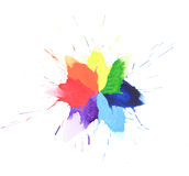 Colorful watercolor splash Stock Photo