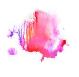 Colorful watercolor splash. Royalty Free Stock Photos