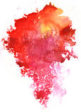 Colorful watercolor splash white background Stock Photography
