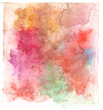 Colorful watercolor splash white background Royalty Free Stock Photography