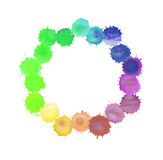 Colorful watercolor splashes Royalty Free Stock Photography