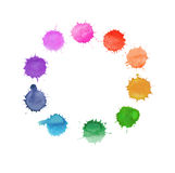 Colorful watercolor splashes Royalty Free Stock Photos
