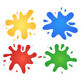 Colorful watercolor splashes Stock Photography