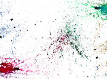Colorful watercolor splashing on white isolate background graphi Royalty Free Stock Photography