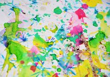 Pastel colorful watercolor hues, abstract paint background Stock Images
