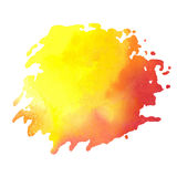 Colorful watercolor stain with aquarelle paint blotch Stock Image