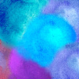 Colorful watercolor stain with aquarelle paint blotch Royalty Free Stock Photo