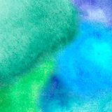 Colorful watercolor stain with aquarelle paint blotch Royalty Free Stock Image